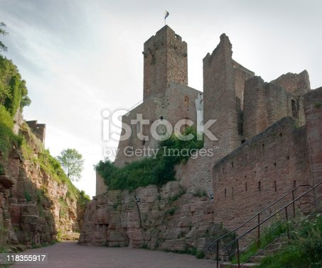 Wertheim Castle in Southern Germany at evening time