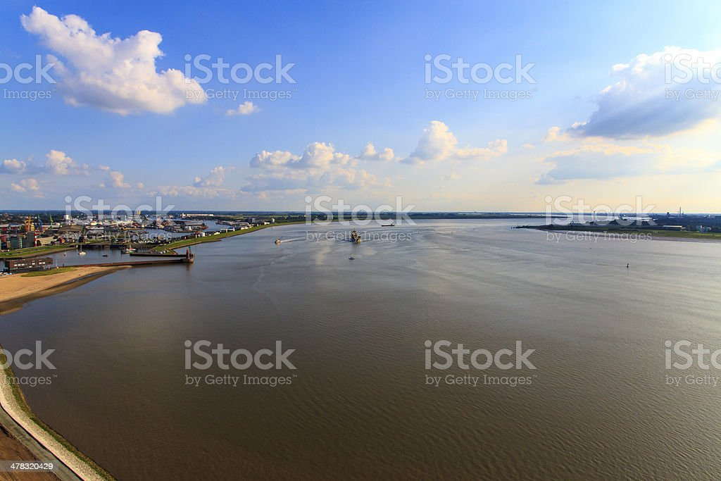 Weser stock photo