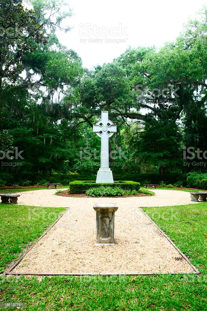 Wesley Garden and Memorial royalty-free stock photo