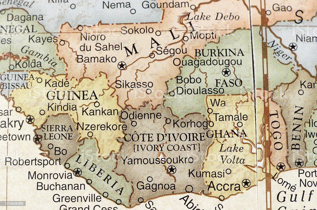 West Africa stock photo