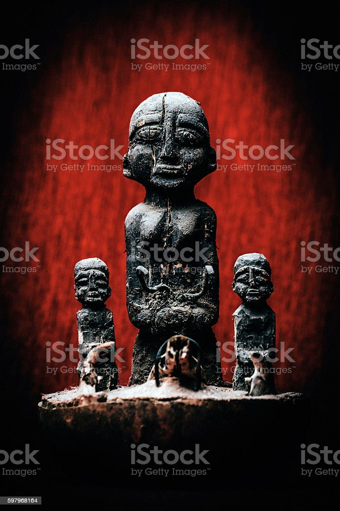 West African art, voodoo power. stock photo