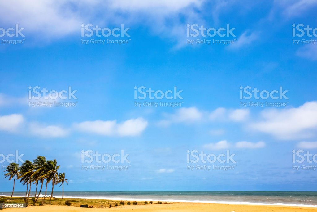 Praia do oeste africana. Ouidah, Benin. - foto de acervo