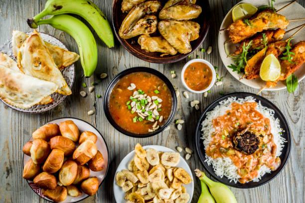 West african Food-Sortiment – Foto