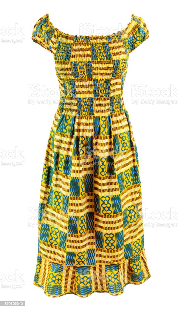 West African Ladies Dress stock photo