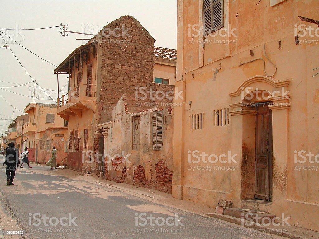 West African street scene, Senegal royalty-free stock photo