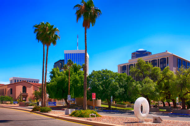 West Alameda Street in downtown Tucson, AZ West Alameda Street in downtown Tucson, AZ alameda california stock pictures, royalty-free photos & images