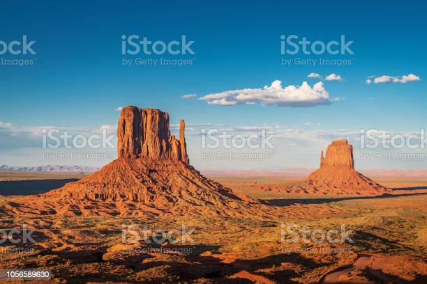 Photo of West and East Mitten Butte Monument Valley Arizona USA