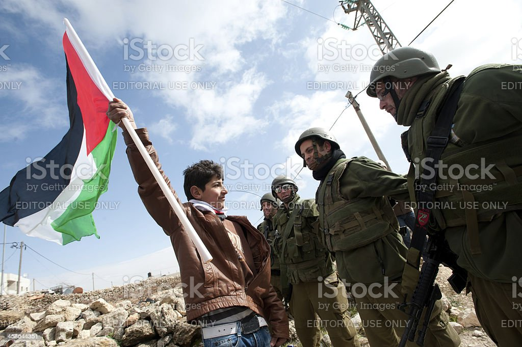 West Bank Anti-Wall Demonstration stock photo