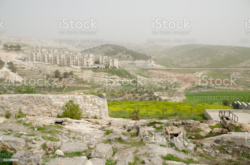 West Bank Boarder stock photo