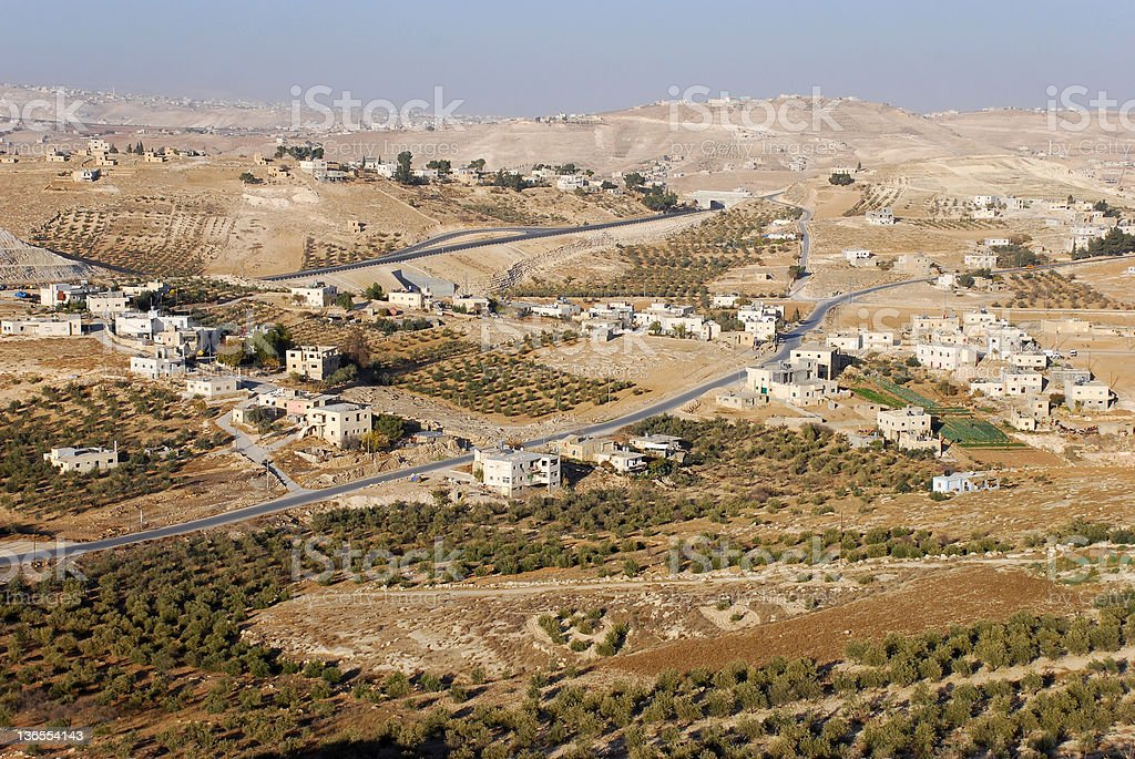 West Bank Landscape stock photo