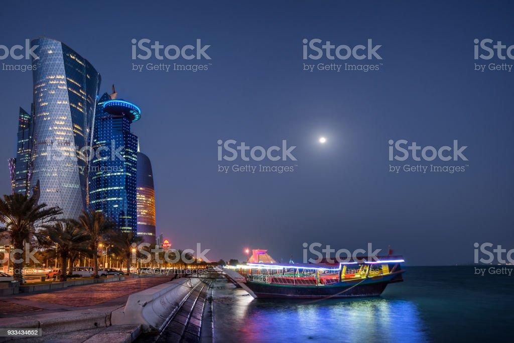 West Bay Doha stock photo