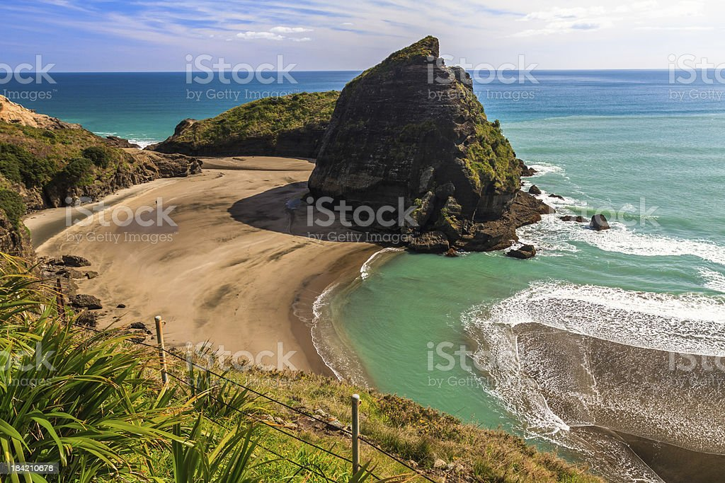 West Coast Beach, Piha, AUckland, New Zealand stock photo