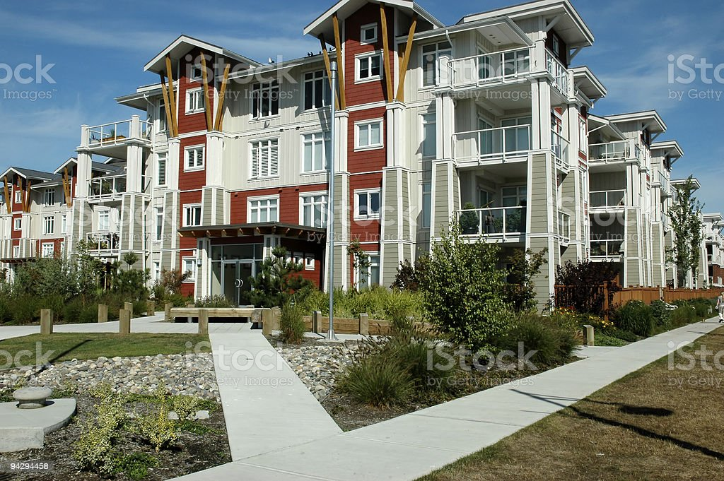 West coast condos stock photo