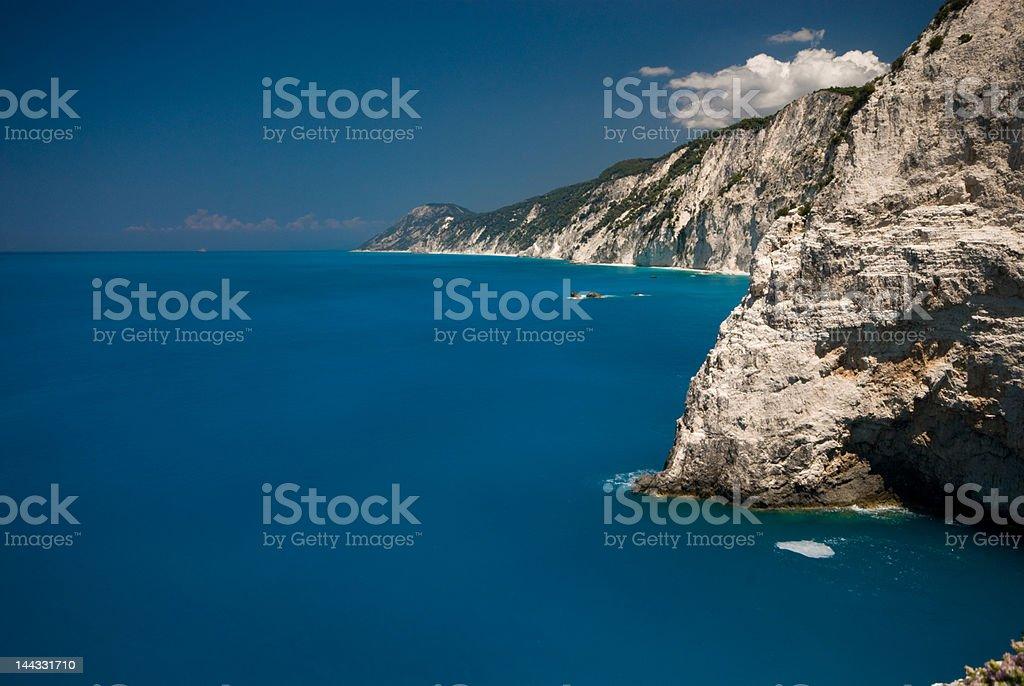 West coast of Lefkas royalty-free stock photo