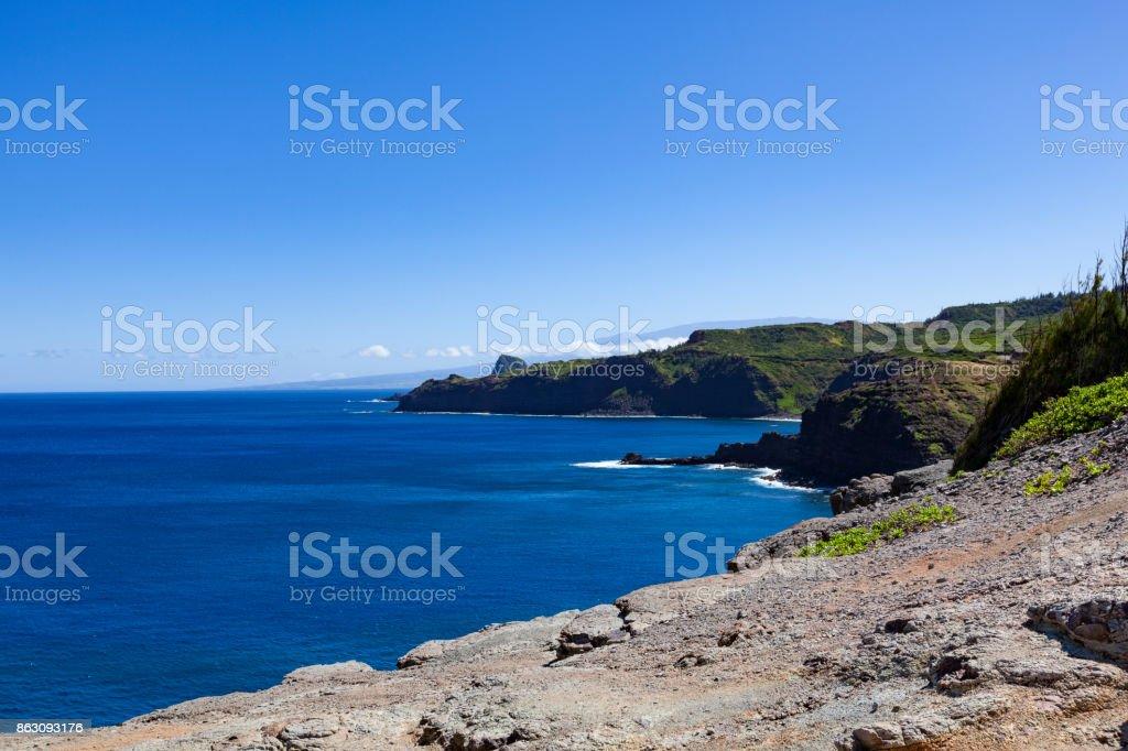 west coast on maui island, hawaii islands stock photo