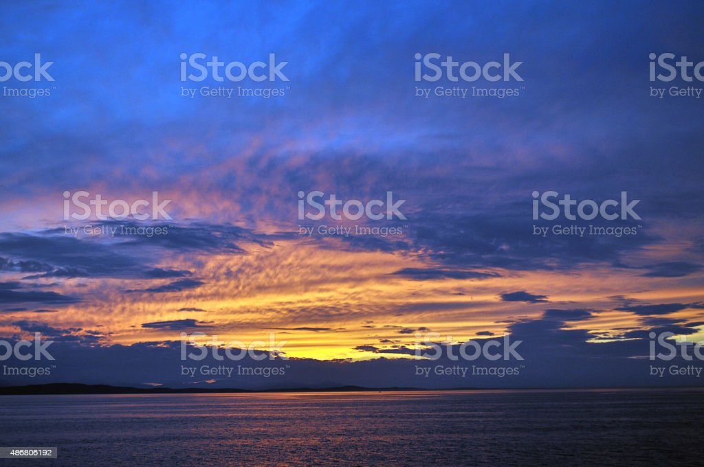 West Coast Sunset stock photo