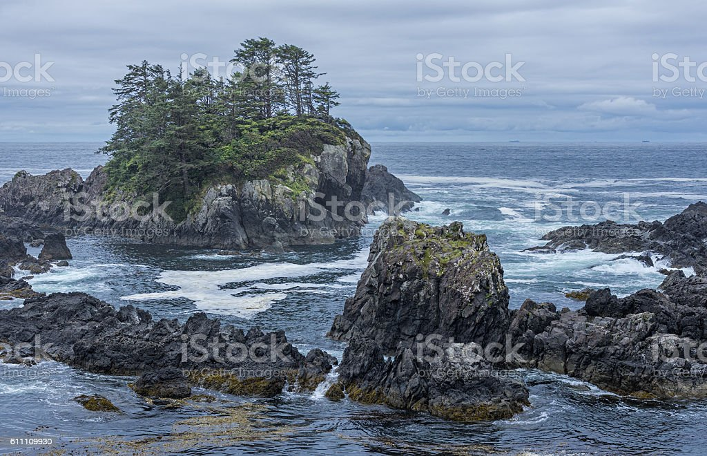 West coast Vancouver Island near Ucluelet British Columbia Canada stock photo