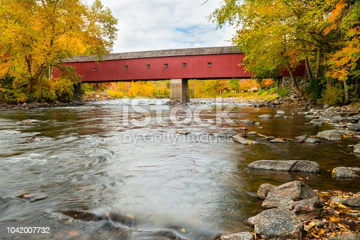 The West Cornwall Covered Bridge (also known as Hart Bridge) is a wooden covered bridge  built around 1864 over the  Housatonic River