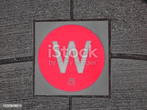 istock west direction compass 1020949974