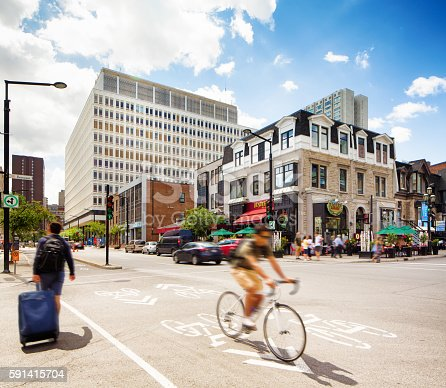 istock West downtown Montreal intersection 591415704