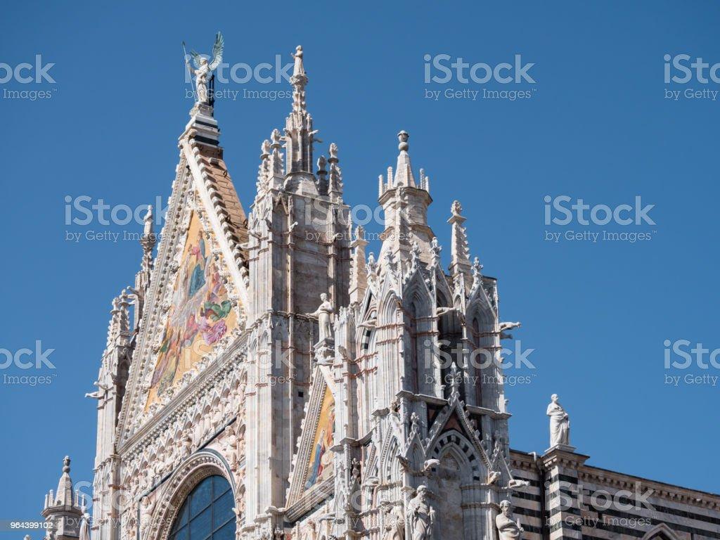 West-façade van de kathedraal van Siena - Royalty-free Antiek - Toestand Stockfoto