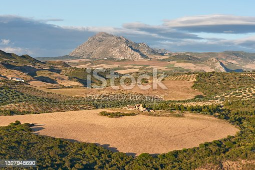 istock West face of the Torcal de Antequera and Abdalajis valley in Malaga. Spain 1327948690