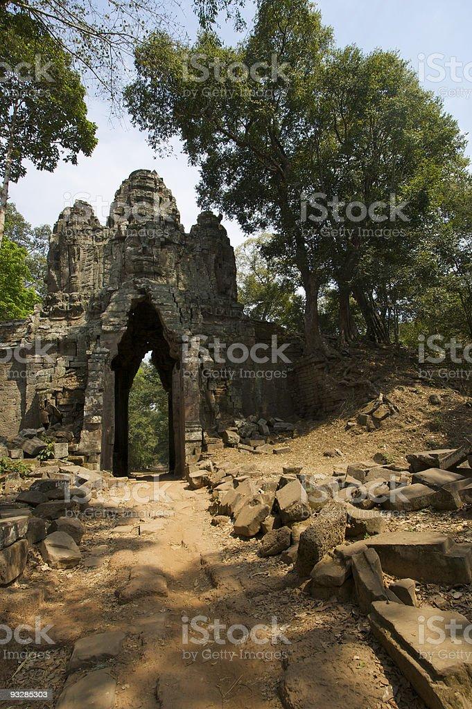 West Gate at Angkor Thom stock photo