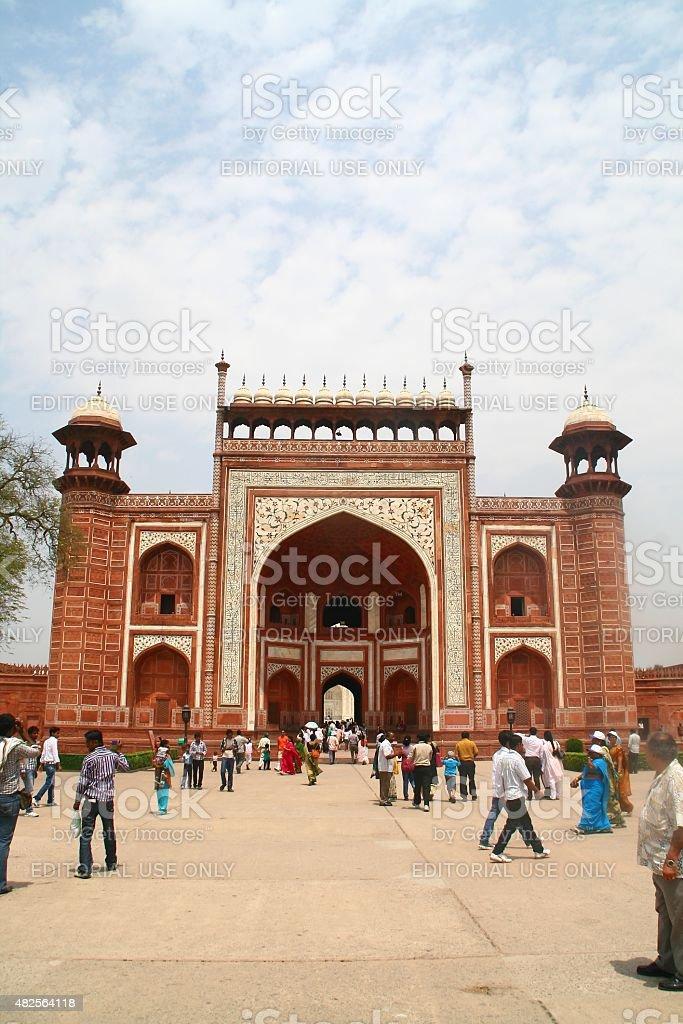 West Gate at Taj Mahal - India stock photo