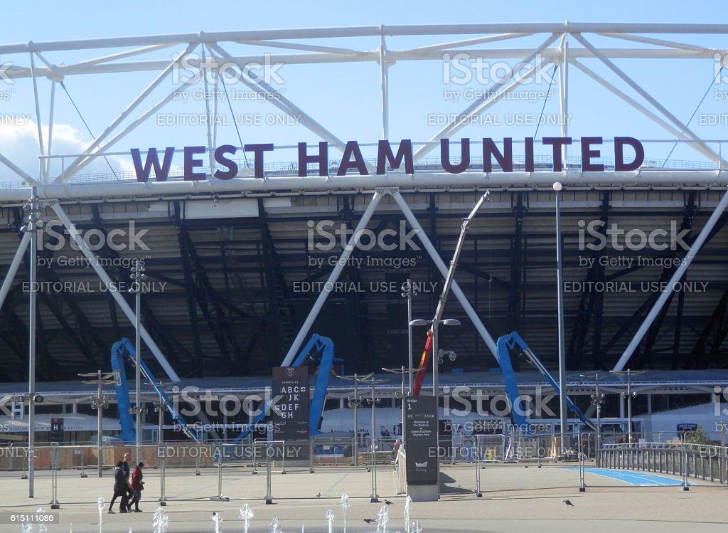 West Ham United Stadium stock photo