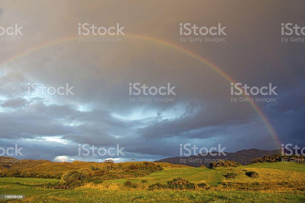 West Highlands Rainbow royalty-free stock photo