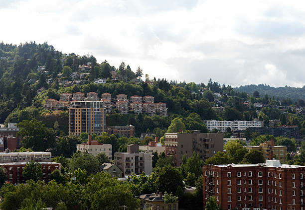 West Hills Portland Oregon stock photo