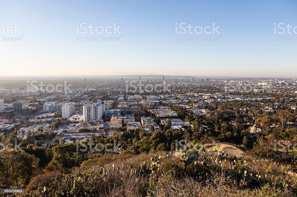 West Hollywood Hilltop View stock photo