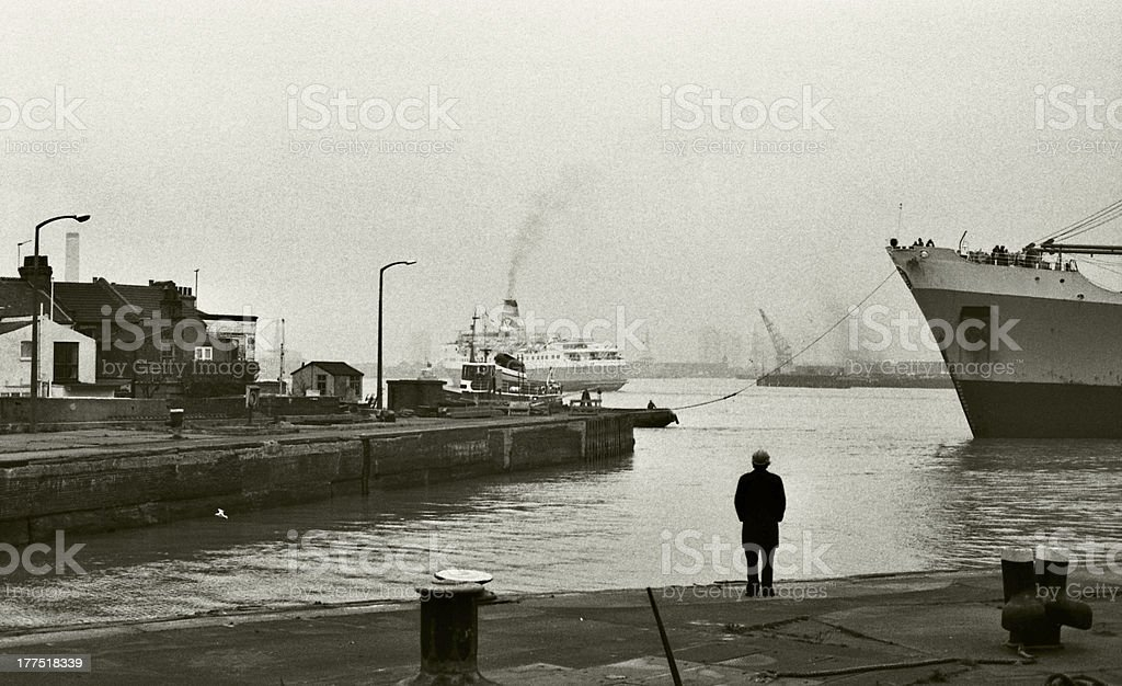 West India Dock, 1979 stock photo