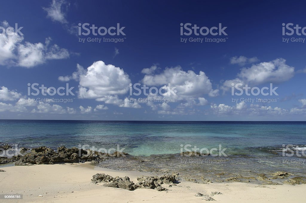 West Indies Seaside stock photo