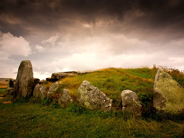 West Kennet Long Barrow stock photo