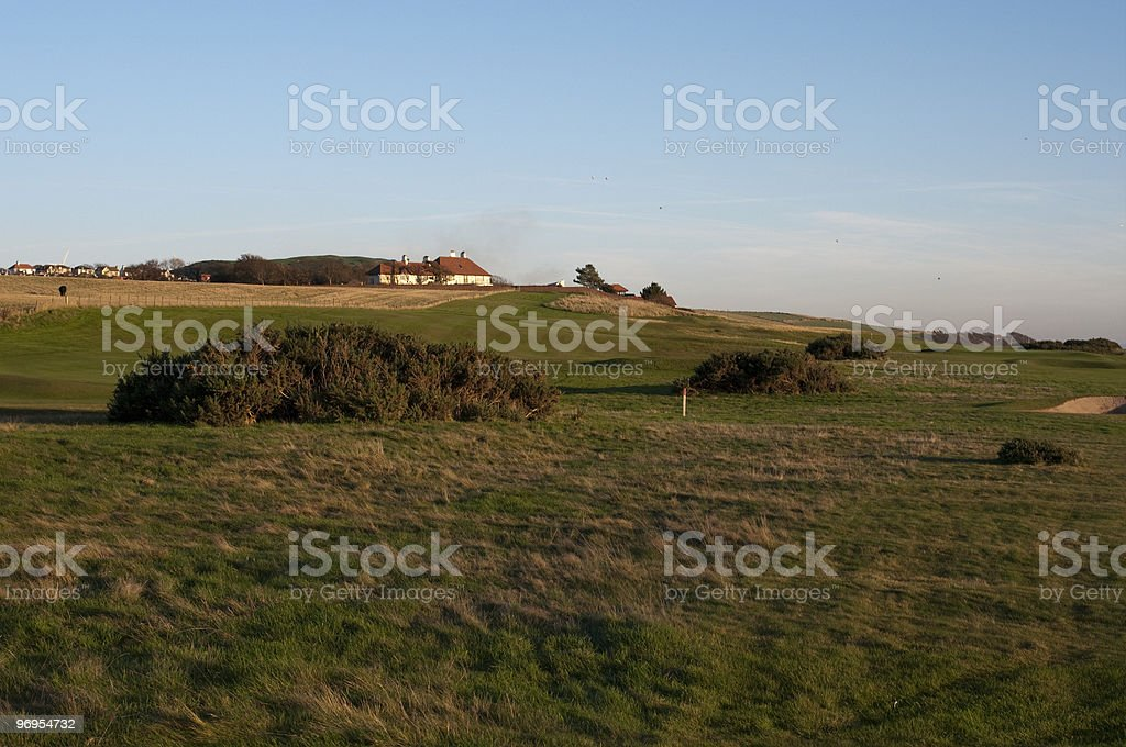 West Kilbride golf course royalty-free stock photo