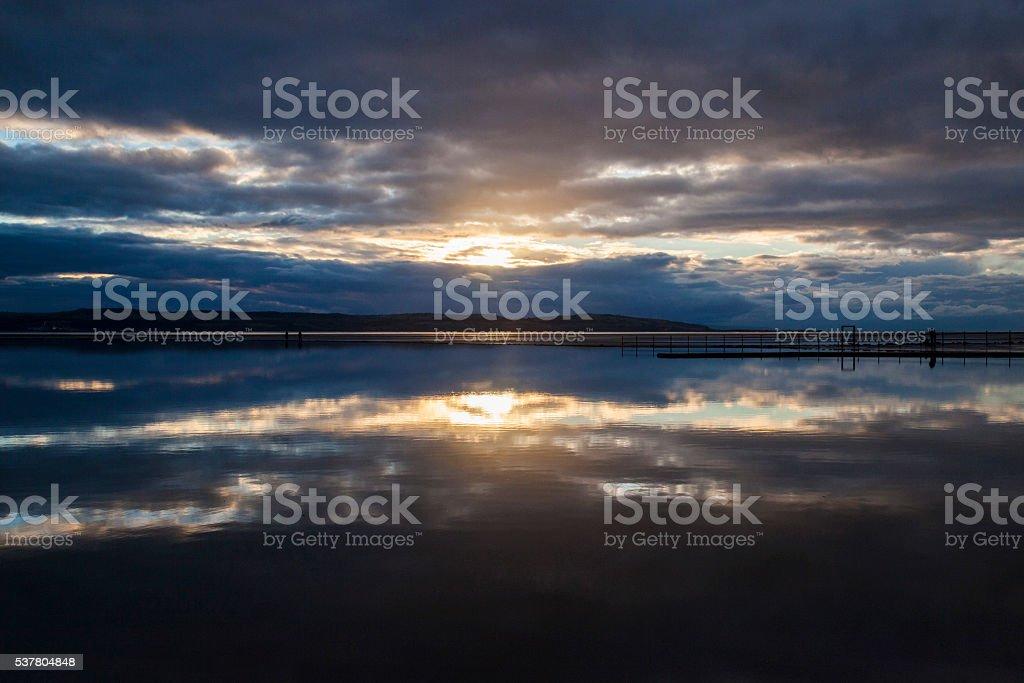 West Kirby Marine Lake royalty-free stock photo