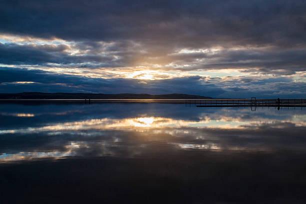 West Kirby Marine Lake stock photo
