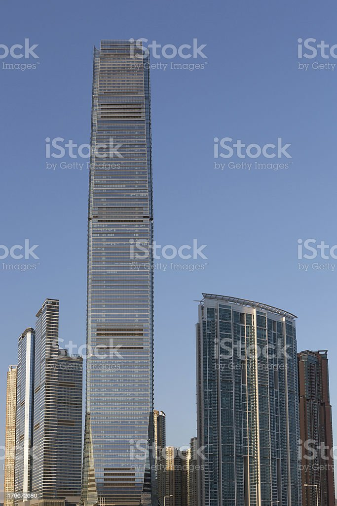 West Kowloon District in Hong Kong royalty-free stock photo