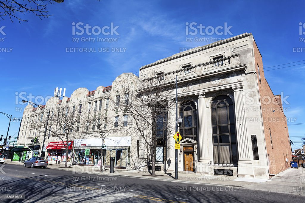 West Lawn State Bank Building, Chicago royalty-free stock photo