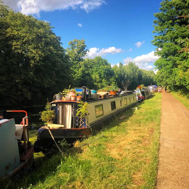 A West London canal near Little Venice. stock photo