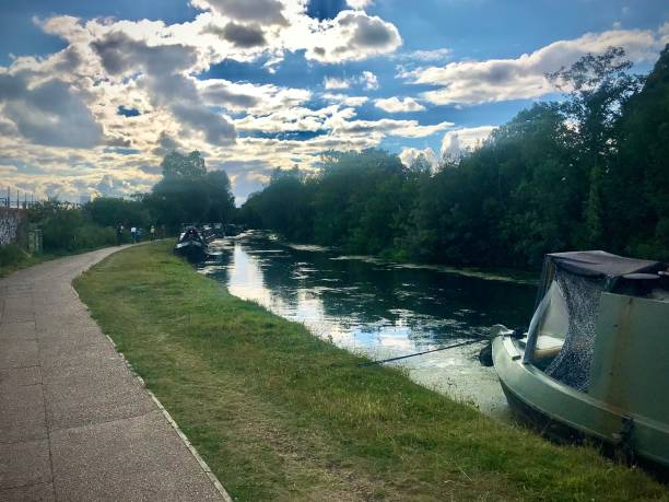 A West London canal. stock photo