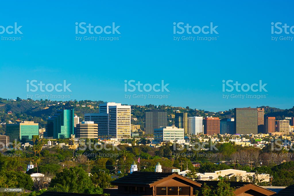 West Los Angeles skyline view in the morning stock photo