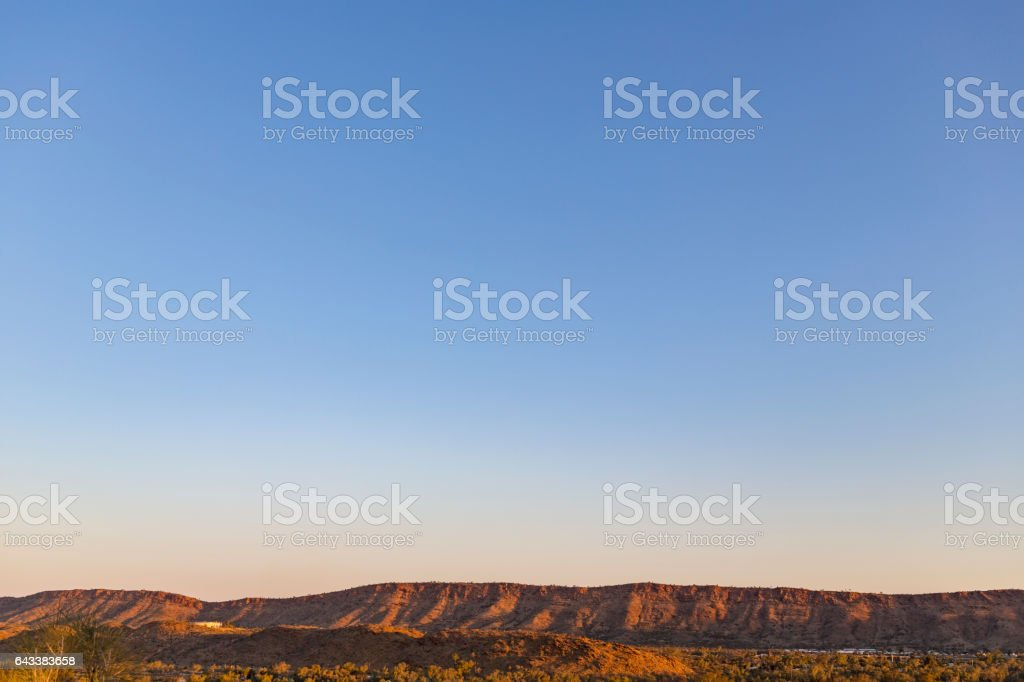 West MacDonnell Ranges, Alice Springs, Northern Territory, Australia stock photo