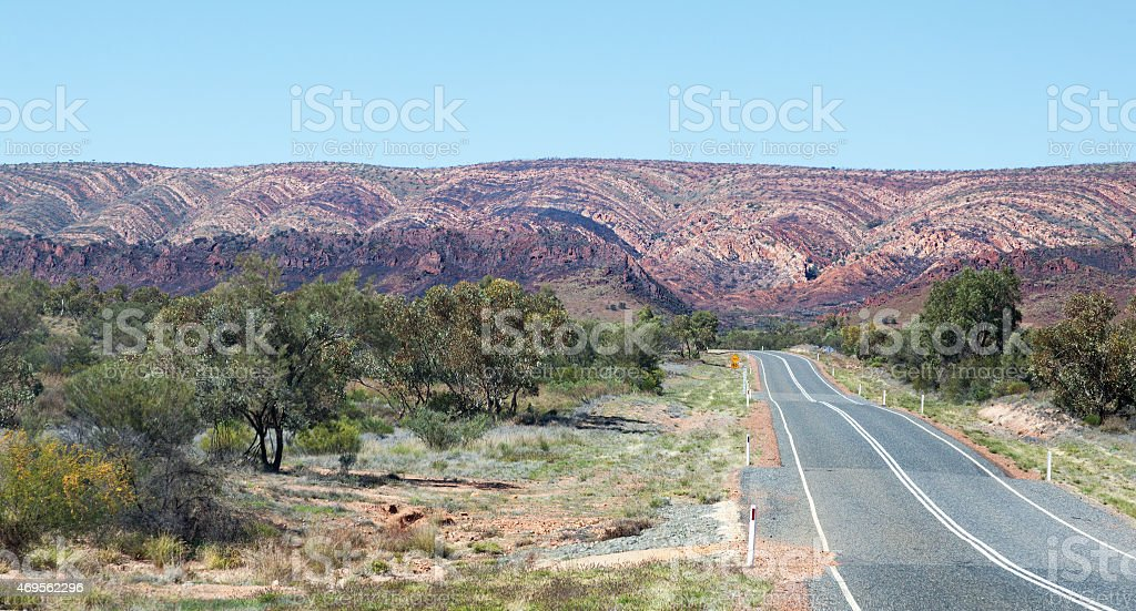 West Macdonnell Ranges Australia scene stock photo