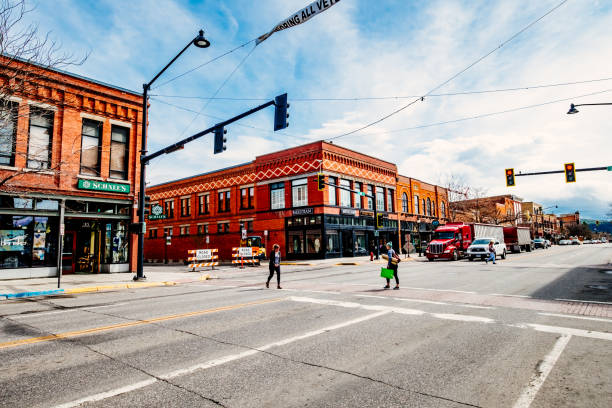 West Main Street, Bozeman, Montana, USA stock photo