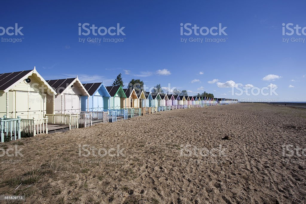 West Mersea Beach, Essex, England stock photo