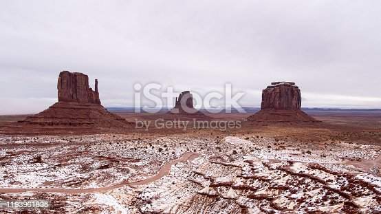 The 'Standard' Monument Valley photo shot from the Visitors Center