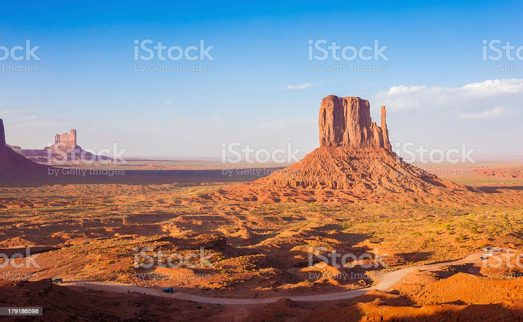 West Mitten Butte in Monument Valley, Utah, USA royalty-free stock photo