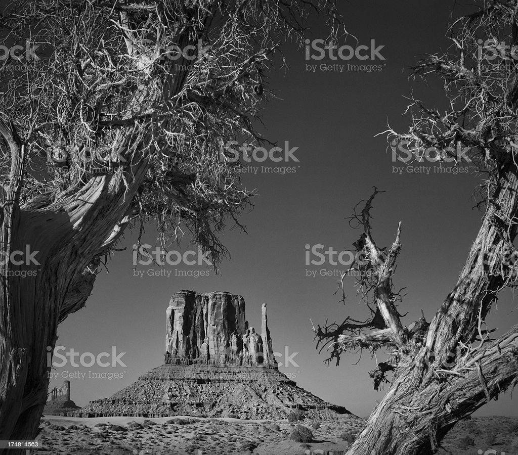West Mitten Butte - Monument Valley stock photo